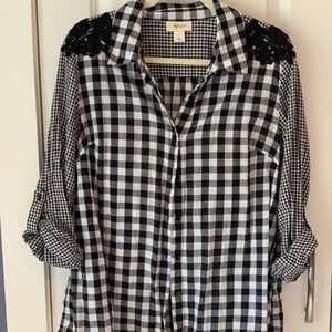 Style & Co - Plaid Button Down